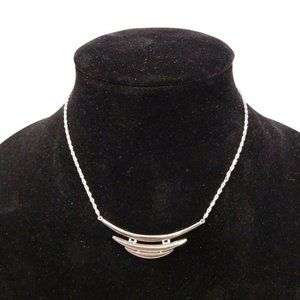 Trifari Silver Tone Swag Linked Necklace
